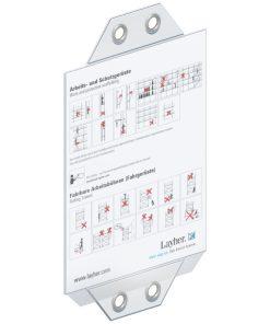 Layher Gerüst-Kennzeichnungsblock