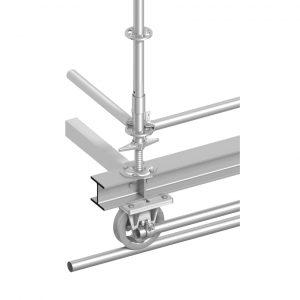 Layher Spurkranzrolle für Rohr D=48.3 mm